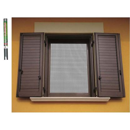 Immagine di Zanzariera in fibra di vetro, colore grigio, 120x250 cm