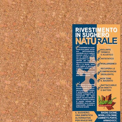 Immagine di Rivestimento in sughero, lastra 30x30 cm, spessore 2 mm, confezione da 11 pezzi