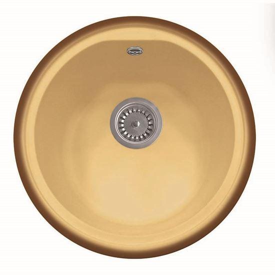 Lavello tondo, Ø 43 cm, colore terra di francia, ARREDO CASA Ottimax