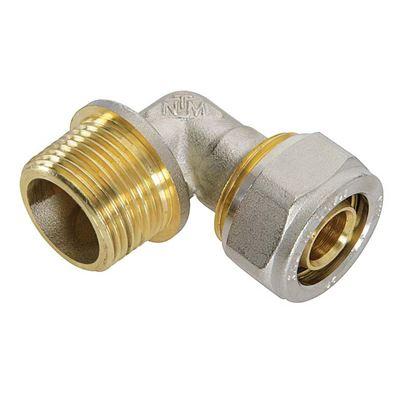 """Immagine di Raccordo a stringere a gomito, per tubo multistrato, M 3/4""""x26 mm"""