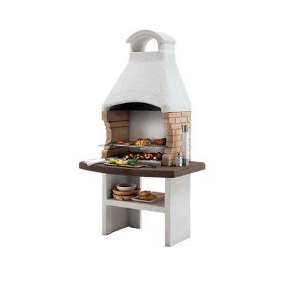 Immagine di Barbecue Palazzetti Brest legna/carbonella 110x77xh210 cm