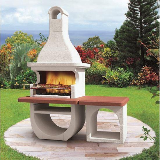 Barbecue palazzetti cicladi legna carbonella 118x92xh250 for Offerte barbecue in muratura