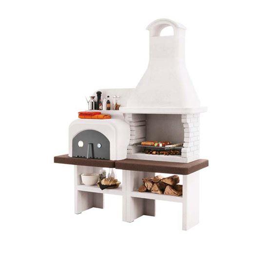 Barbecue palazzetti grado legna carbonella 246x78xh184 cm for Barbecue oslo palazzetti