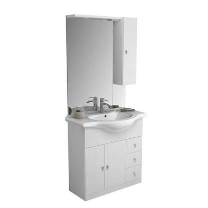 Immagine di Mobile Eco 2, 3 cassetti, colore bianco, 85 cm