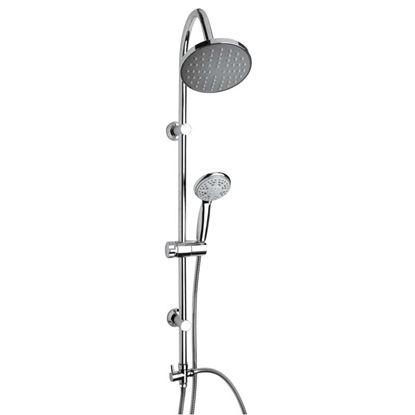 Immagine di Colonna doccia Crazy, soffione da 18 cm, 3 getti, colore cromo