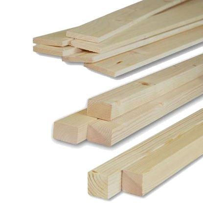 Immagine di Listelli abete,  piallati su 4 lati, 10x60x2000 mm.