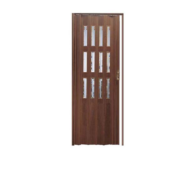 Porta a soffietto, 88,5xh214 cm, colore noce scuro, PORTE, FINESTRE ...
