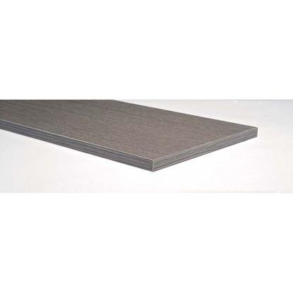 Immagine di Mensola, melaminico, rovere grigio, 18x600x400 mm