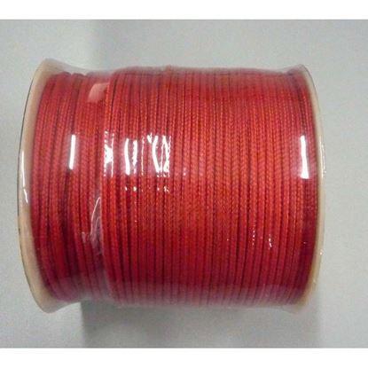 Immagine di Treccia veneziana, mm 3x100 mt, colore rosso