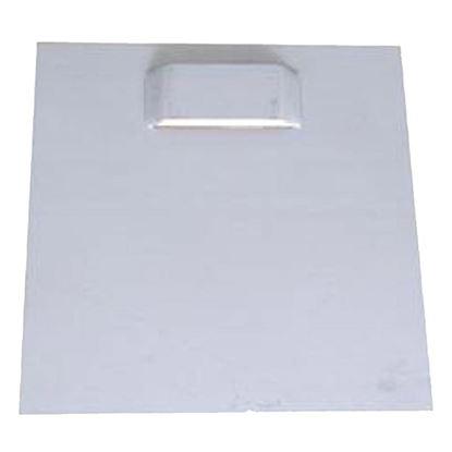 Immagine di kit, acciaio due pezzi, zincato 9x9 cm, doppia asola e biadesivo applicato, con due agganci, con 4 viti e 4 tasselli