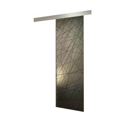 Immagine di Porta scorrevole, cristallo serigrafato, fume', 8 mm, 86x215 cm