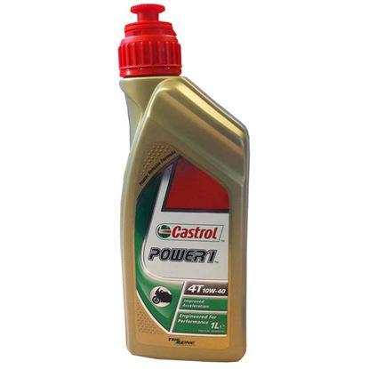 Immagine di Olio Castrol  Power1 4T SAE 10W-40, lubrificante semisintetico, per motori a 4 tempi, universale per moto, 1 lt