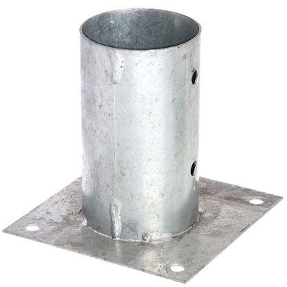 Immagine di Portapalo da avvitare, per pali tondi, zincato a fuoco, Ø 101 mm