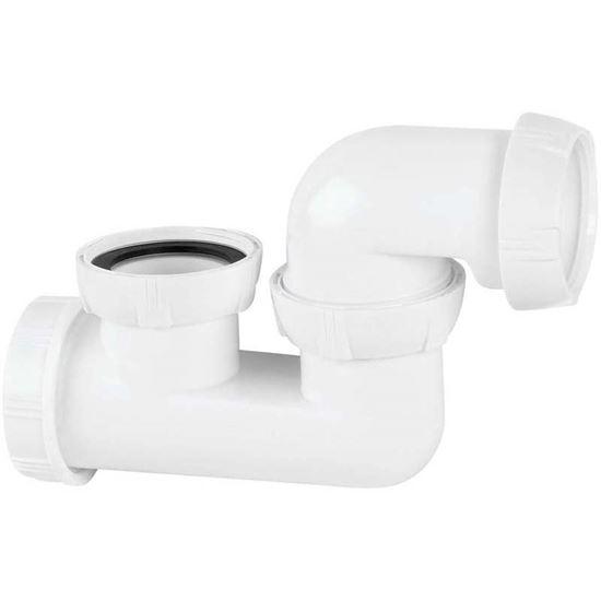 """Immagine di Sifone vasca Wirquin, 1""""1/2, Ø 40 mm, ispezionabile, orientabile"""