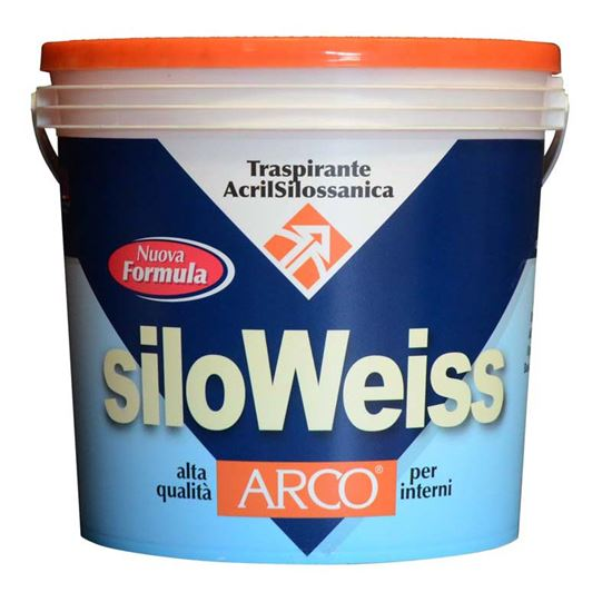 Immagine di Idropittura traspirante, acrilsilossanica, per interni, colore bianco, 14 lt
