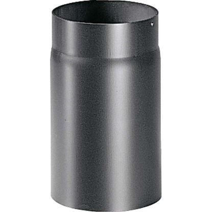 Immagine di Tubo per stufa a legna spessore 2 mm, colore nero, 25 cm, Ø130 mm