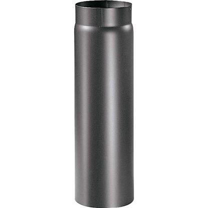 Immagine di Tubo per stufa a legna spessore 2 mm, colore nero, 50 cm, Ø150 mm