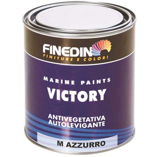 Immagine di Pittura antivegetativa Finedin, Victory M, monocomponente, opaca, autolevigante, per scafi, 0,75 lt, colore nero