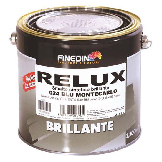 Immagine di Smalto sintetico Finedin, Relux, per uso nautico, 2,5 lt, colore bianco