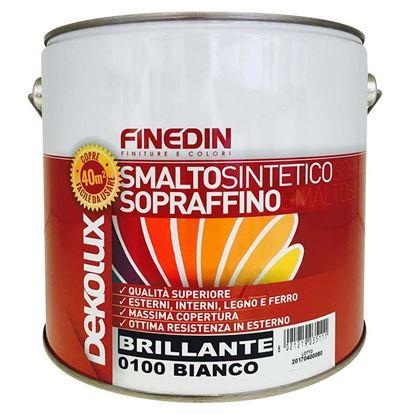 Immagine di Smalto sintetico Finedin, Dekolux, brillante sopraffino di prima qualità, 0,75 lt, colore giallo cromo