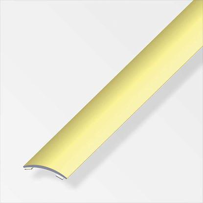 Immagine di Profilo di raccordo autoadesivo, 30x5 mm, alluminio ottonato, 1,0 mt