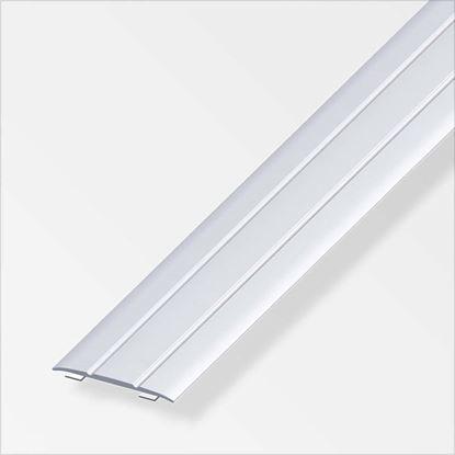 Immagine di Profilo di raccordo autoadesivo, 37x2,5 mm, 1,0 mt, alluminio argento
