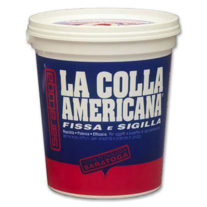 Immagine di Colla americana Saratoga, adatta per tutti i materiali di maggior uso, barattolo 800 gr