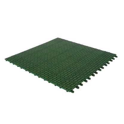 Immagine di Mattonella drenante, in polietilene, modulare, colore verde, 56x56 cm