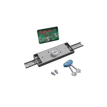 Immagine di Serratura per serrande e garage, doppia mappa, antimanipolazione, catenaccio diritto, 2 chiavi