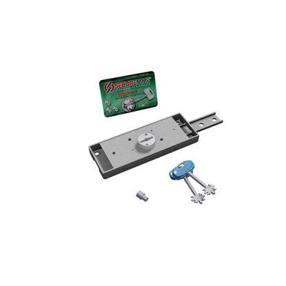 Immagine di Serratura per serrande e garage, doppia mappa, laterale destra, antimanipolazione, catenaccio diritto, 2 chiavi