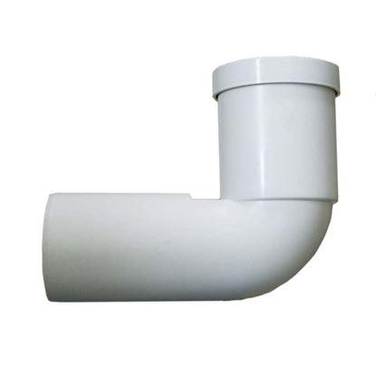 Immagine di Curva per WC prolungata HTSB, colore bianco, con guarnizione e tappo, Ø 110x230 mm