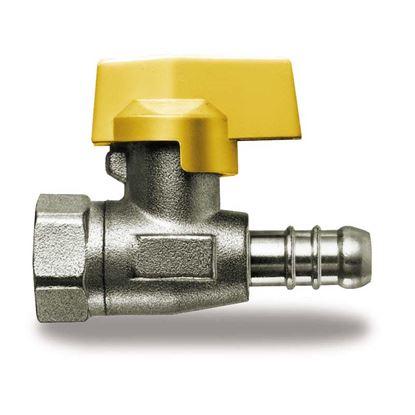 """Immagine di Rubinetto gas, IVR, diritto, con portagomma, F 1/2""""x8 mm, GPL"""