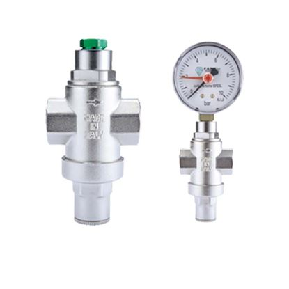 "Immagine di Riduttore di pressione mini, IVR, nichelato, manuale, FF 1/2"""