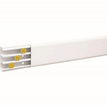 Immagine di Canale battiscopa, 2 mt, colore bianco, 65x20 mm