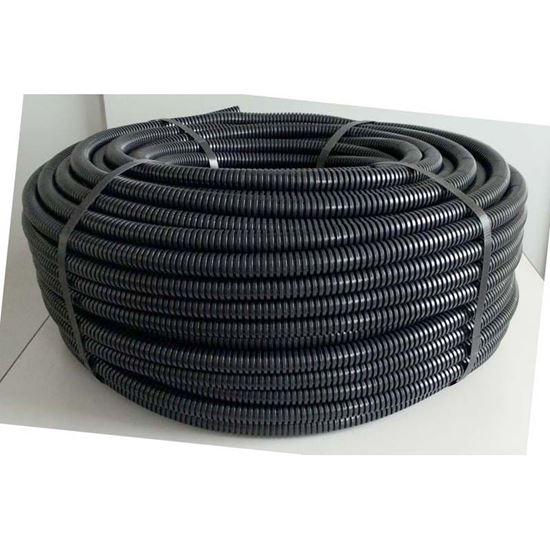 Immagine di Tubo corrugato, colore nero, senza tirafilo, bobina 50 mt, Ø 20 mm