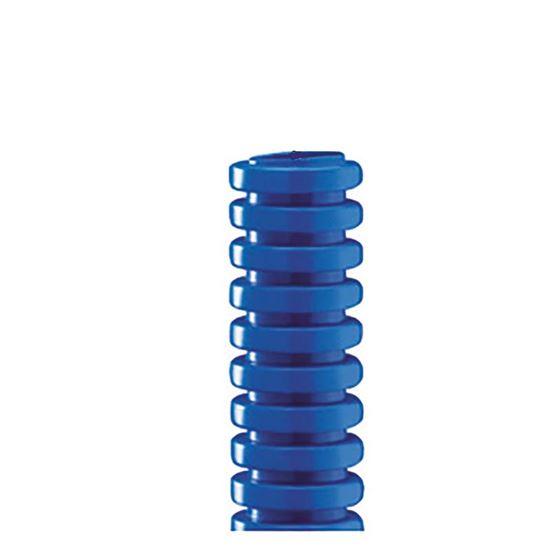Immagine di Tubo corrugato, colore blu, senza tirafilo, bobina 50 mt, Ø 25 mm