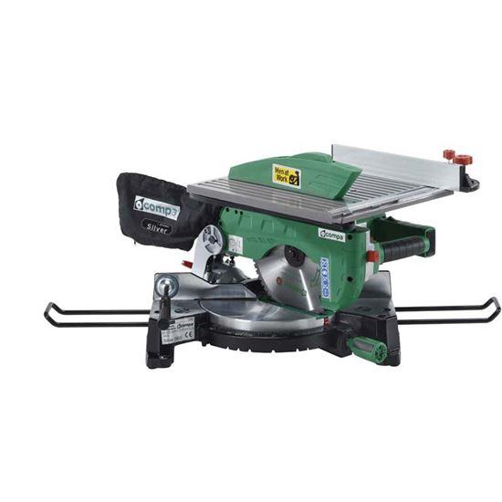 Immagine di Troncatrice Compa 1800 W, Silver G250, con piano sega, disco Ø 250 mm, guida laser, taglio a 90°/135x70 mm