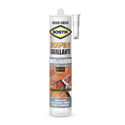 Immagine di Sigillante Bostik Sux Cemento e Calcestruzzo, x la riparazione di muri e pavimentazioni, colore grigio, 500 gr