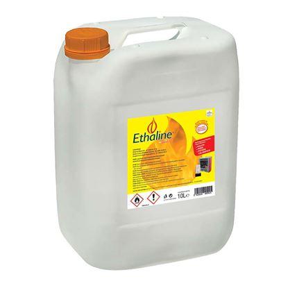 Immagine di Combustibile Ethaline 10 lt, bioetanolo puro, accensione rapida, combustione senza fumo e senza odore