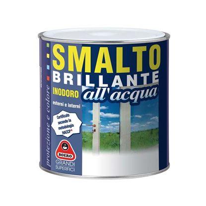 Immagine di Smalto brillante all'acqua Boero, 0,75 lt, colore blu pullman