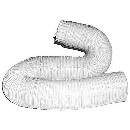 Immagine di Tubo alluminio compresso, colore bianco, 1x3 mt, Ø 80 mm
