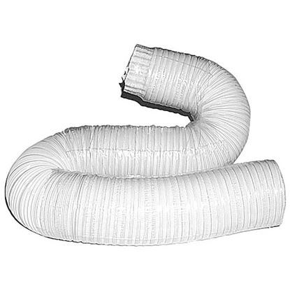 Immagine di Tubo alluminio compresso, colore bianco, 1x3 mt, Ø 160 mm