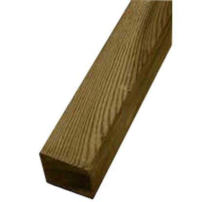 Immagine di Palo quadrato Twig, 9x9xh120 cm, con punta diamante, per sostegno recinzioni, in pino continentale impregnato,