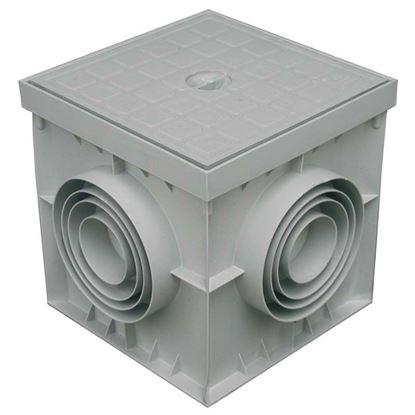 Immagine di Pozzetto e coperchio, colore grigio, 40x40 cm