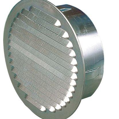 Immagine di Griglia alluminio,Ø esterno 150 mm, Ø interno 120 mm