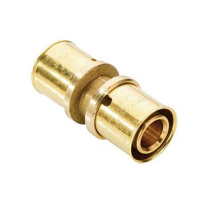 Immagine di Raccordo a pressare fit, diritto doppio, Ø20x20, gas