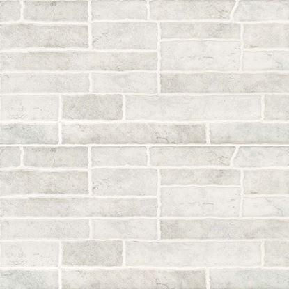 Immagine di Rivestimento Muretto  20x40 cm, bicottura pasta rossa, confezione da 1,60 m², colore grigio
