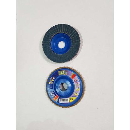 Immagine di Disco lamellare abrasivo per acciao, zirconio, Ø115 mm, grana 120