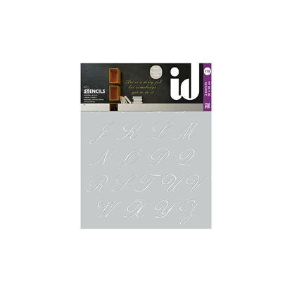 Immagine di Stencil doppi,  30x38, alfabeto corsivo