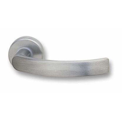 Immagine di Maniglia rosetta Ghidini Idea, Q8, finitura argento satinato